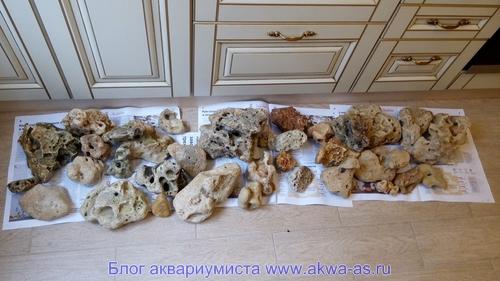 Собранные Черноморские камни